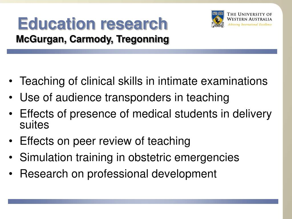 Education research