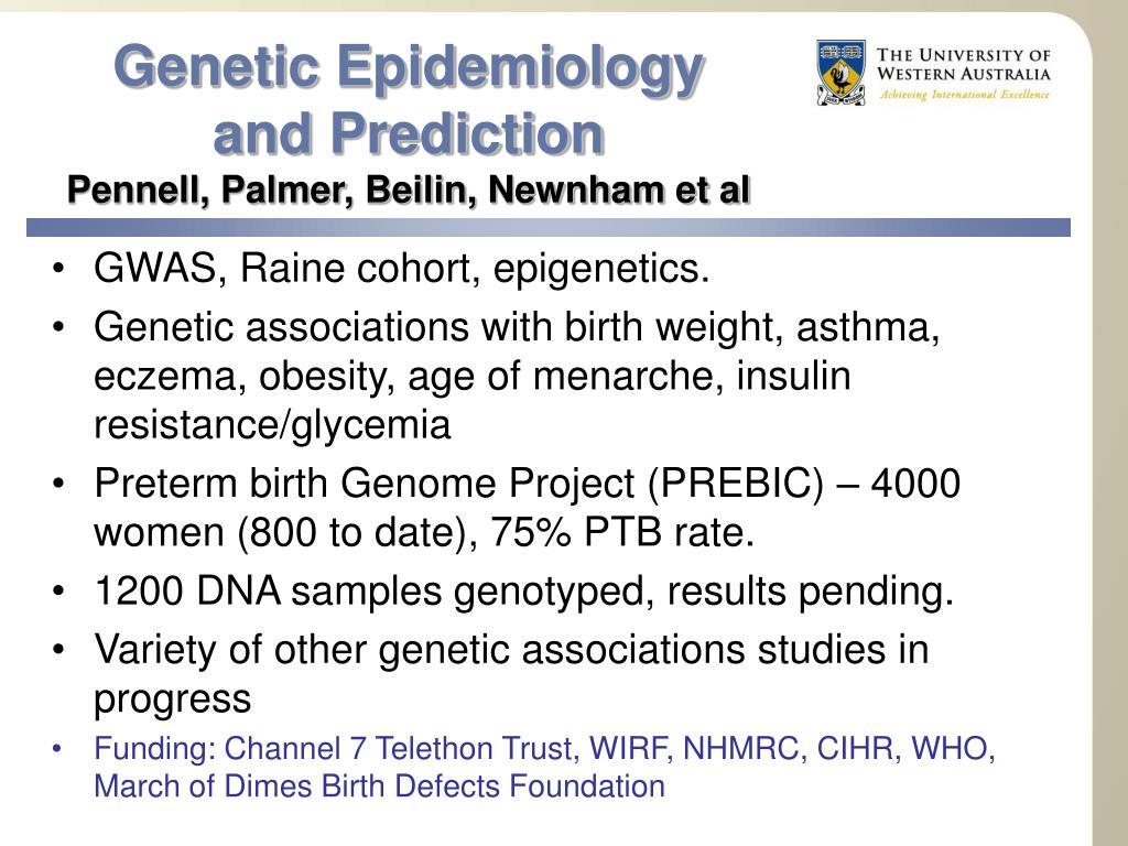 Genetic Epidemiology