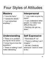 four styles of attitudes
