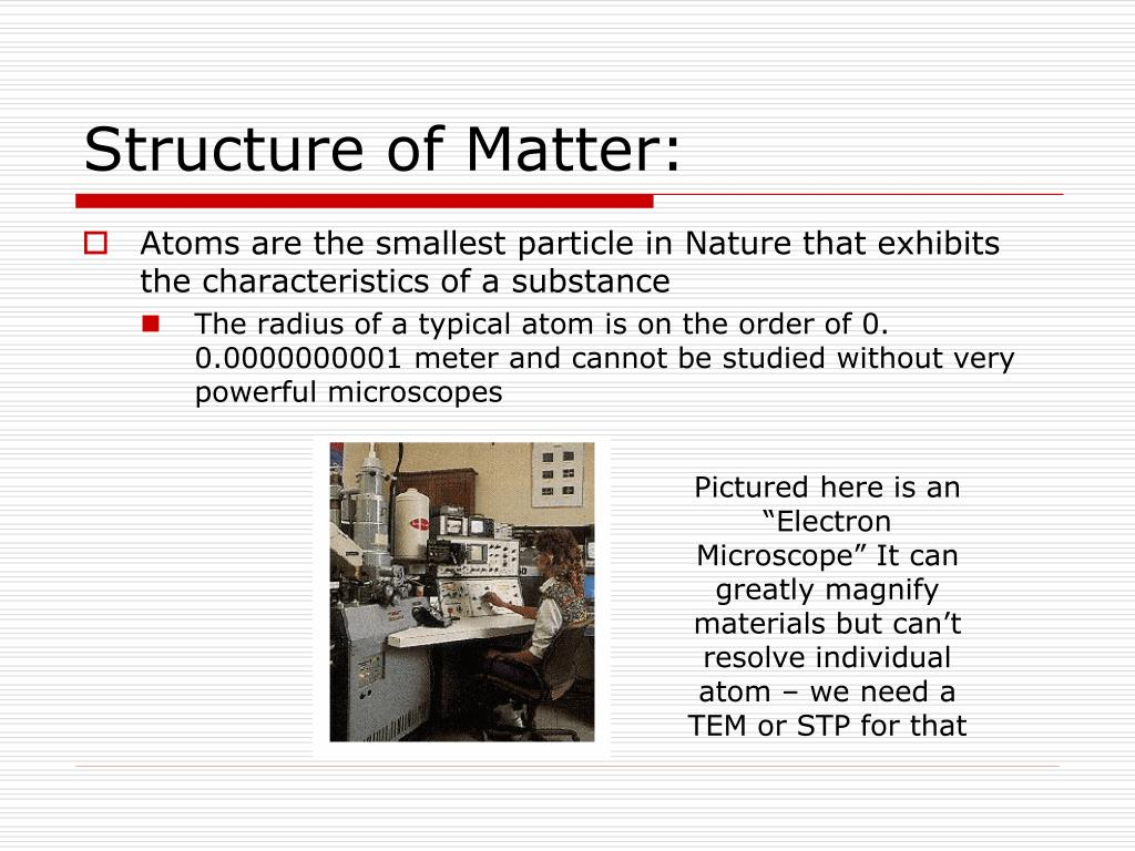 Structure of Matter: