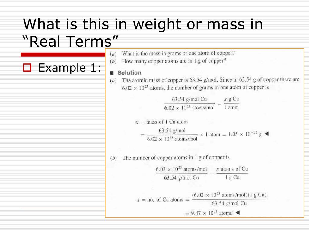 """What is this in weight or mass in """"Real Terms"""""""