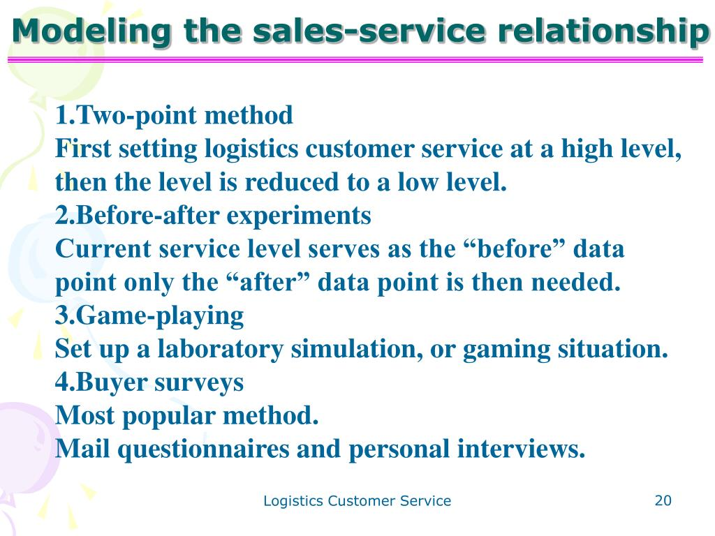 Modeling the sales-service relationship