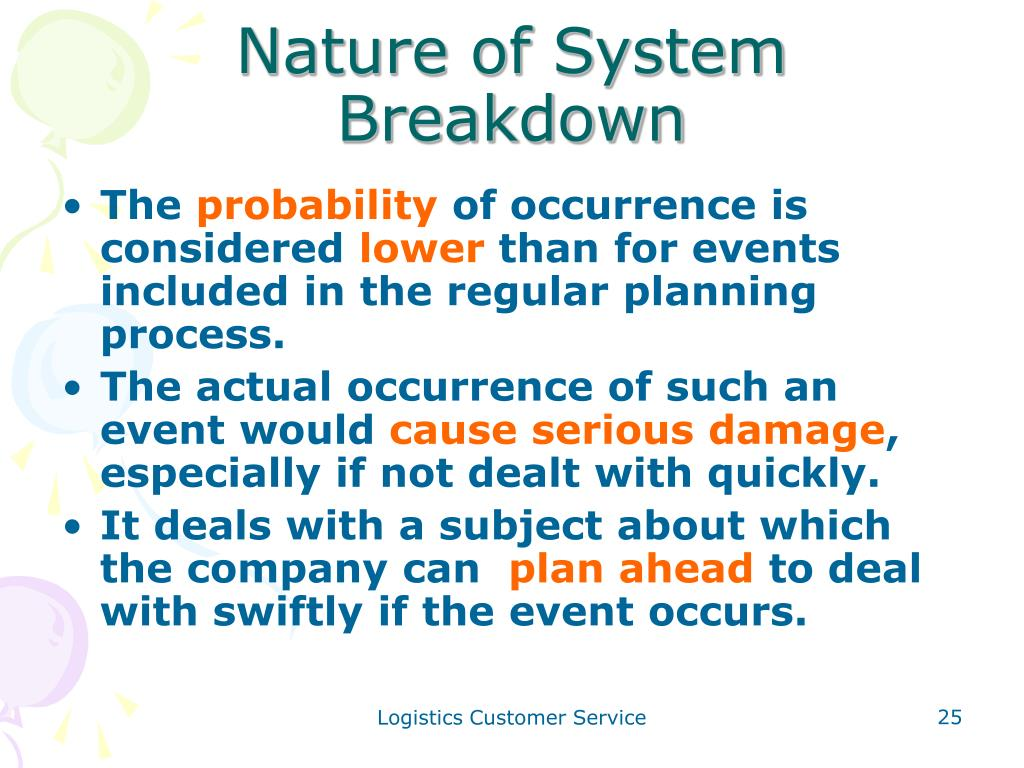 Nature of System Breakdown