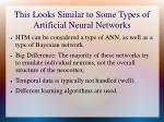 this looks similar to some types of artificial neural networks