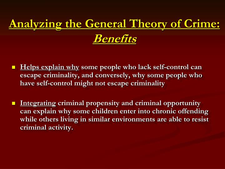 criminology the evolution of crime essay Research programs that are considered include radical criminology, neoclassical-deterrence and postclassical explanations of crime, psychodynamic, humanist, behaviourist, and moral development research programs from psychology, biosocial explanations of criminality, and developmental-life course theories of crime and.