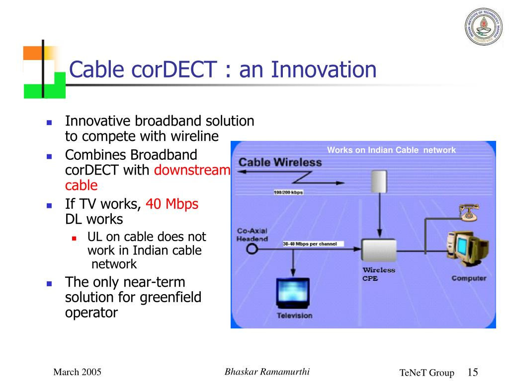Cable corDECT : an Innovation