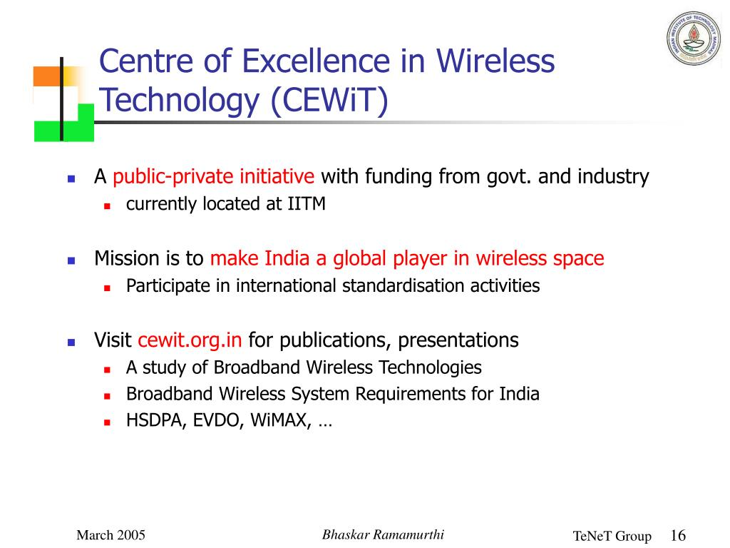 Centre of Excellence in Wireless Technology (CEWiT)