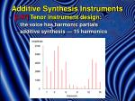 additive synthesis instruments