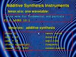additive synthesis instruments10