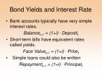 bond yields and interest rate