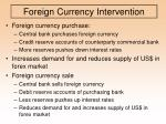 foreign currency intervention