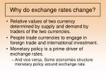 why do exchange rates change