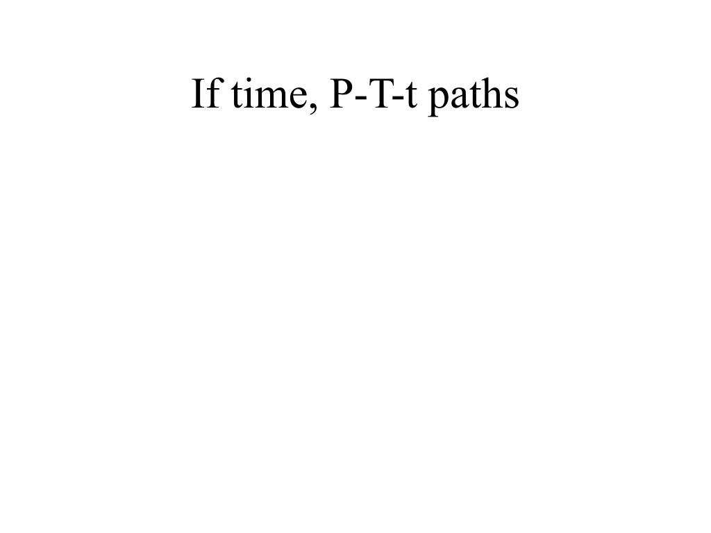 If time, P-T-t paths