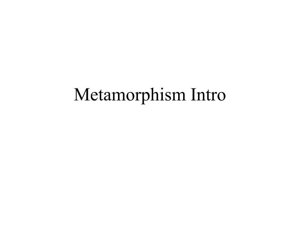 metamorphism intro l.