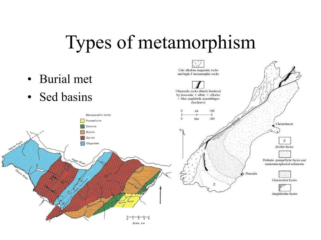 Types of metamorphism