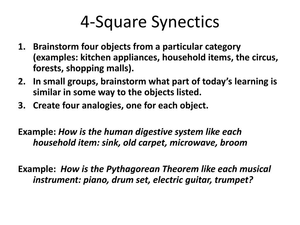 4-Square Synectics