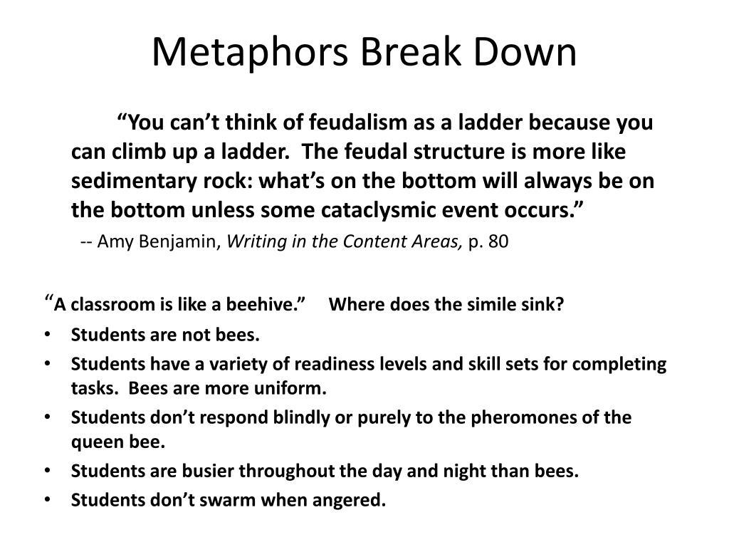 Metaphors Break Down