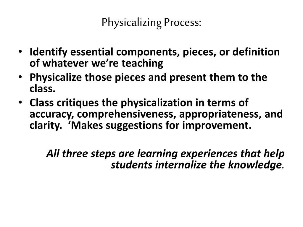 Physicalizing Process: