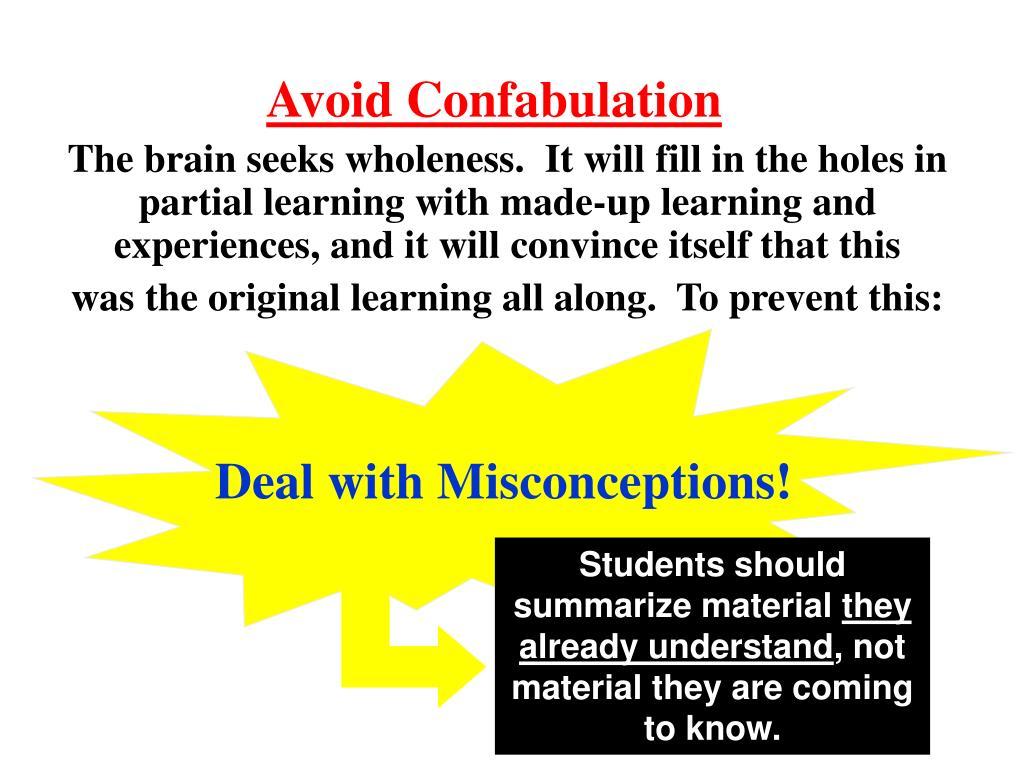 Avoid Confabulation
