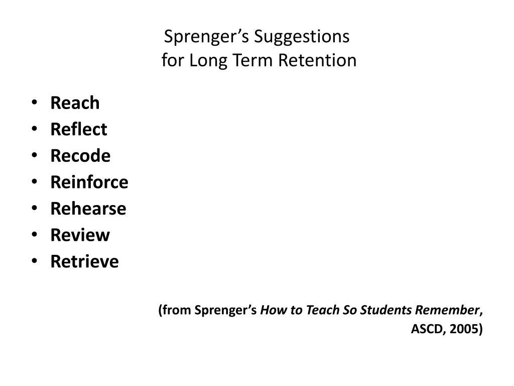Sprenger's Suggestions