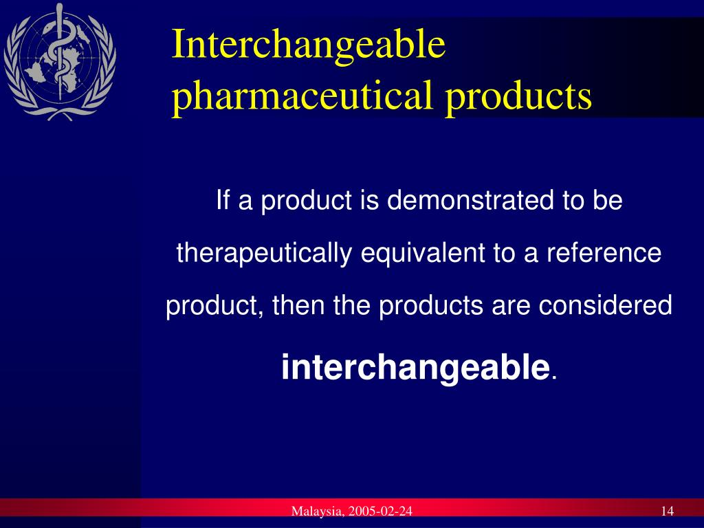 Interchangeable pharmaceutical products