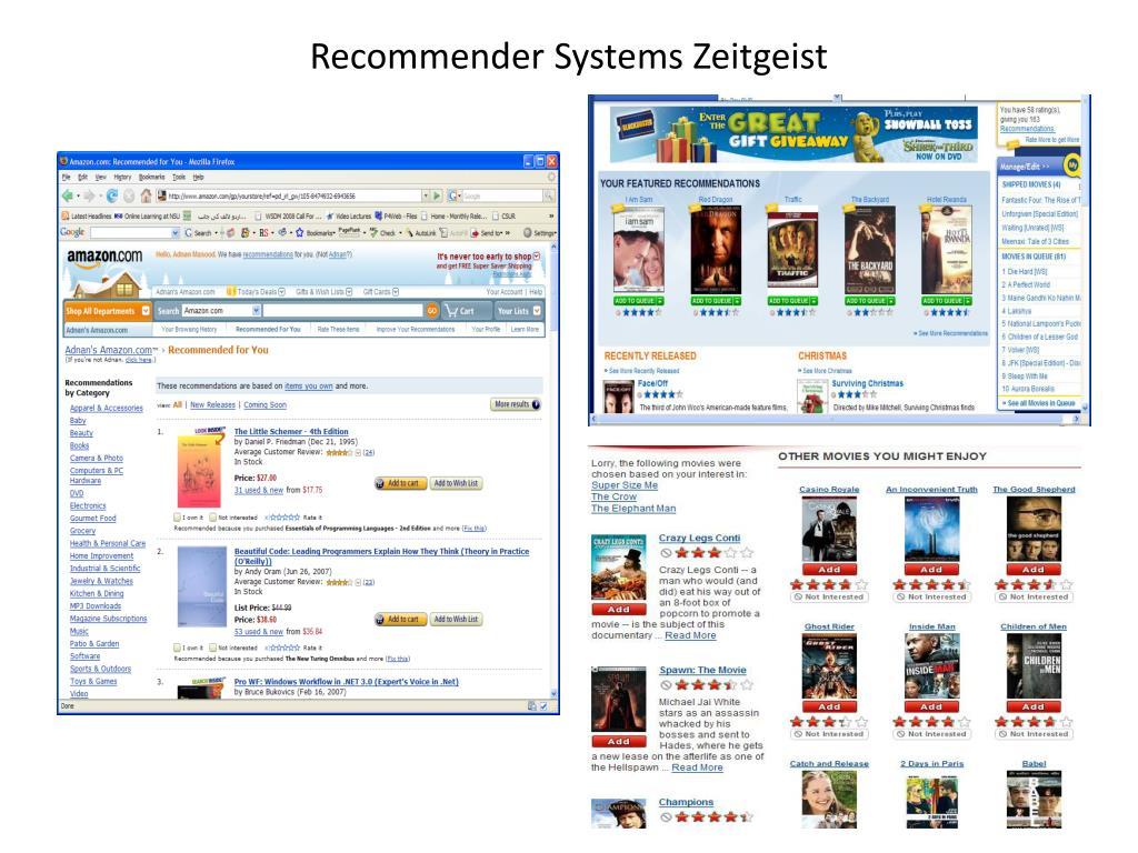 Recommender Systems Zeitgeist