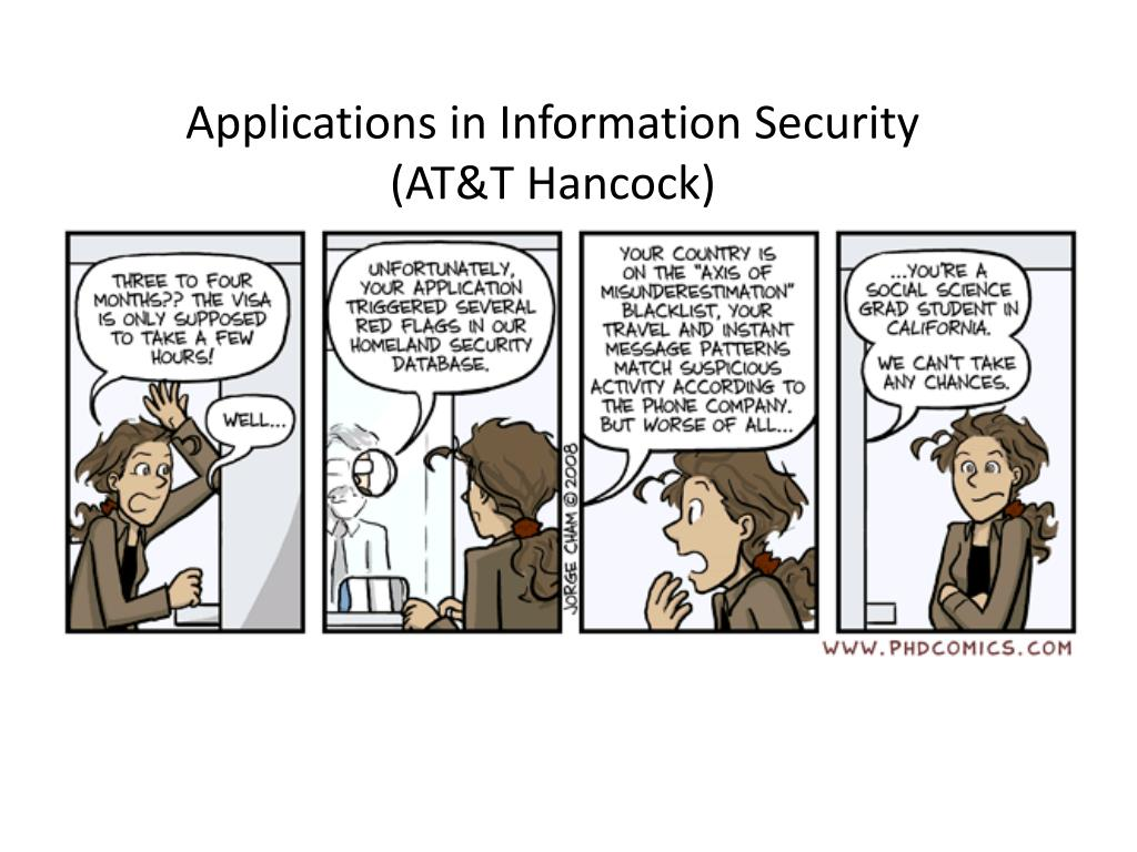 Applications in Information Security
