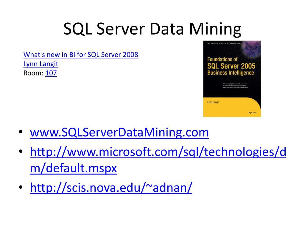 SQL Server Data Mining