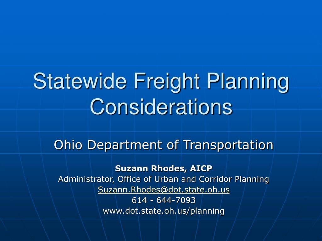 statewide freight planning considerations l.