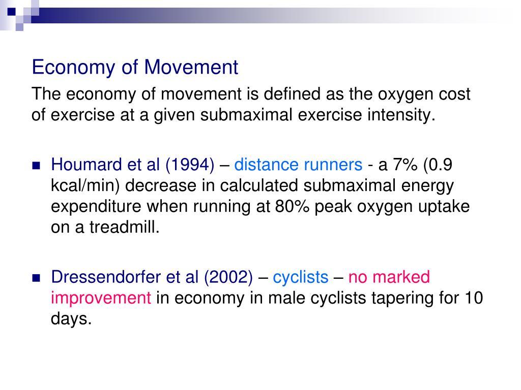 Economy of Movement