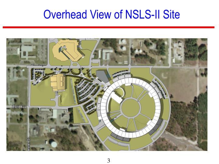Overhead View of NSLS-II Site