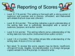 reporting of scores