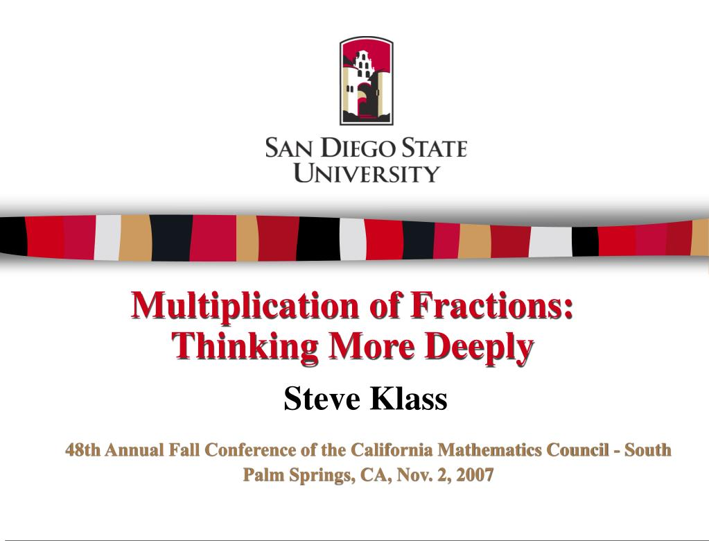 multiplication of fractions thinking more deeply l.