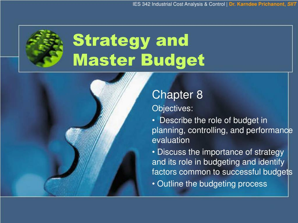 strategy and master budget l.