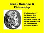 greek science philosophy