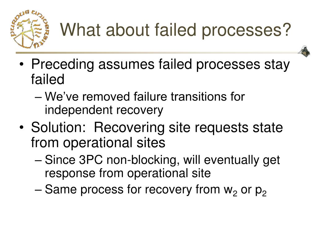 What about failed processes?