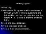 the language pl14