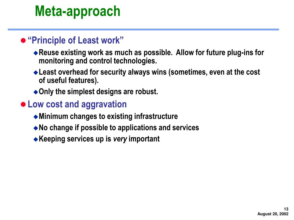 Meta-approach