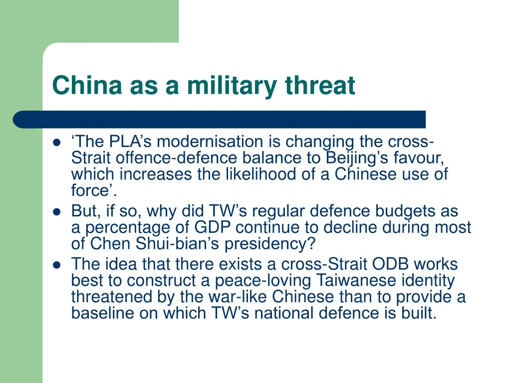 China as a military threat