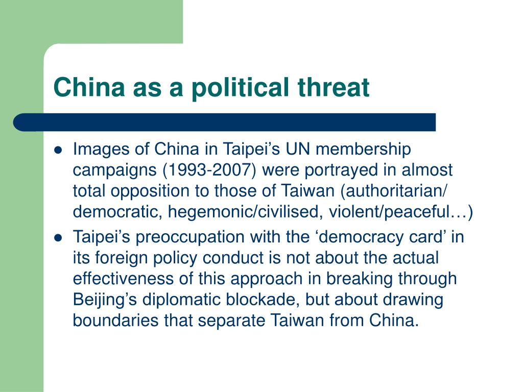 China as a political threat