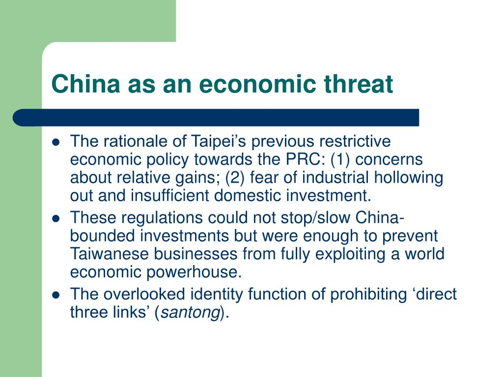 China as an economic threat