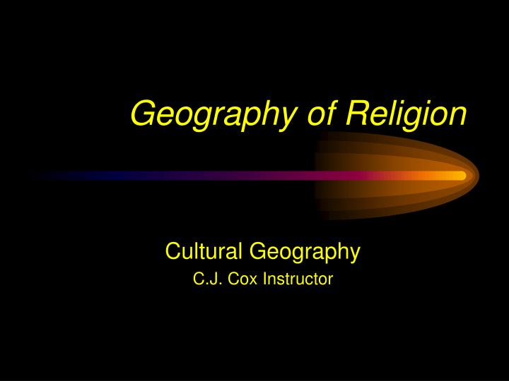 geography of religion n.
