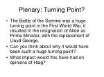plenary turning point