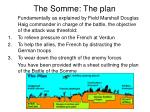 the somme the plan