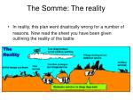 the somme the reality
