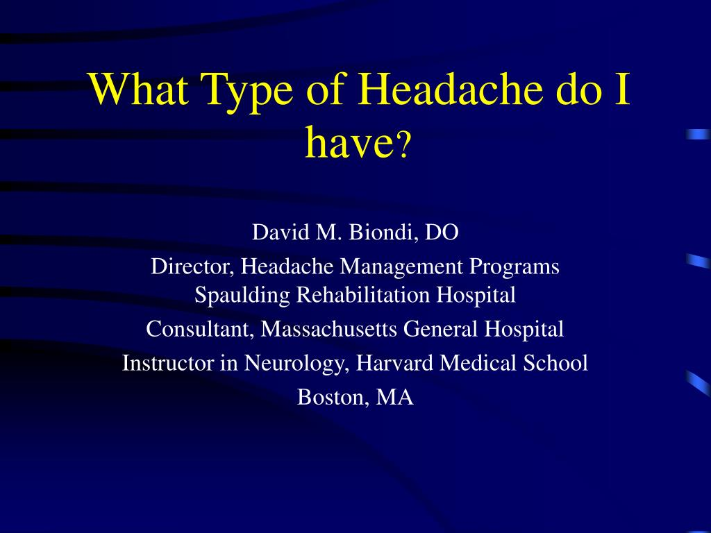 what type of headache do i have l.
