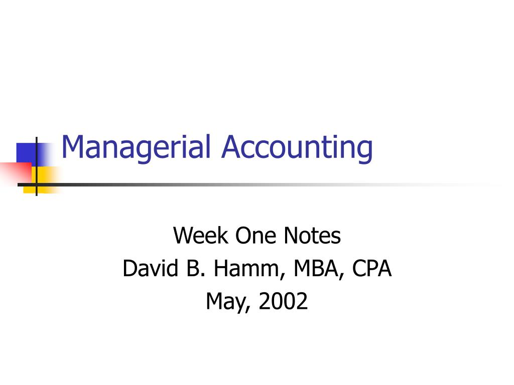 managerial accounting l.