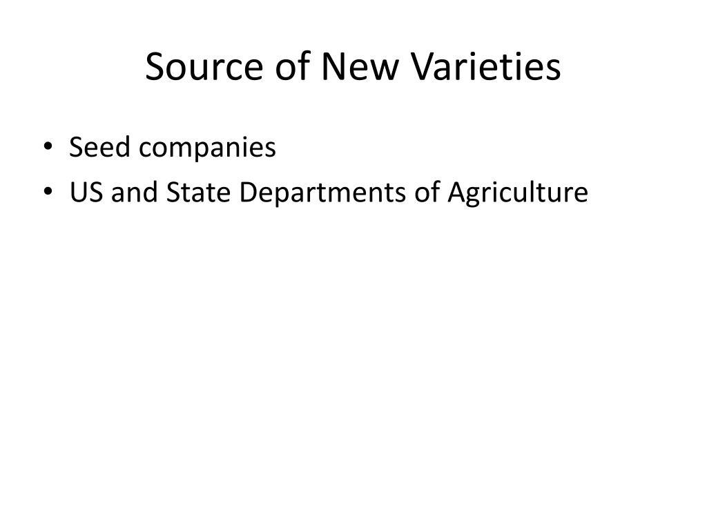 Source of New Varieties