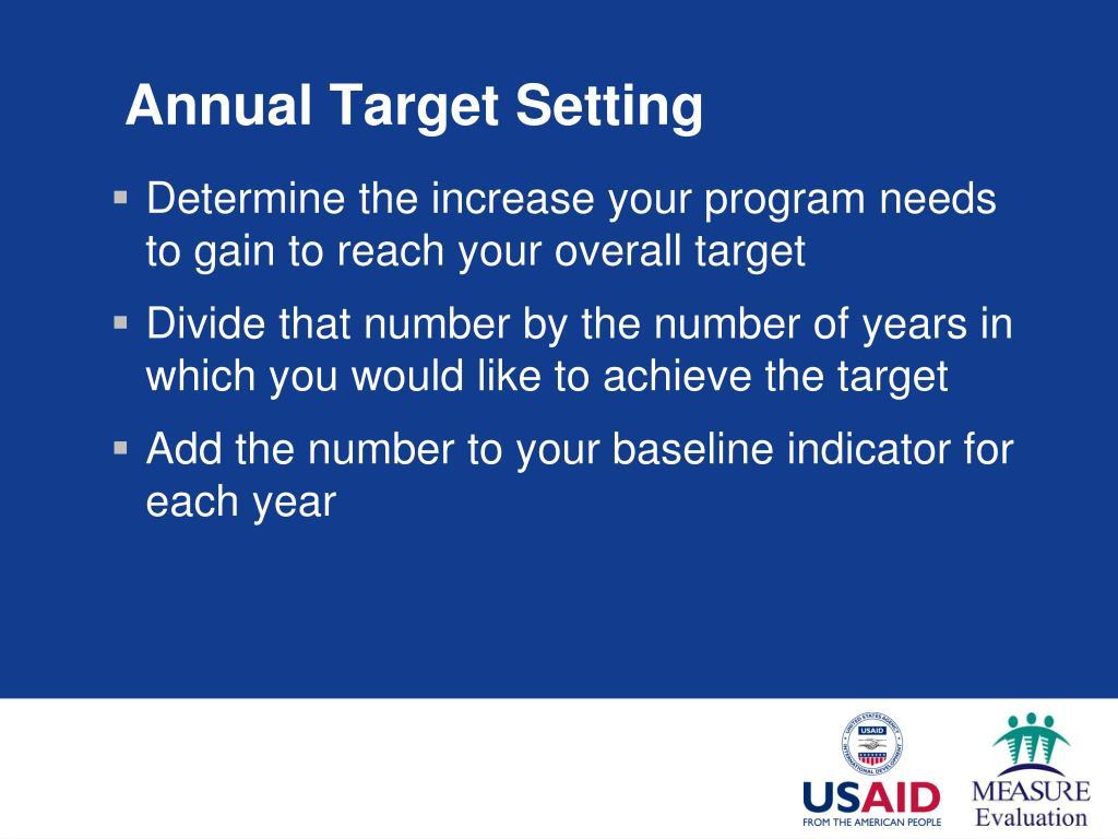 Annual Target Setting