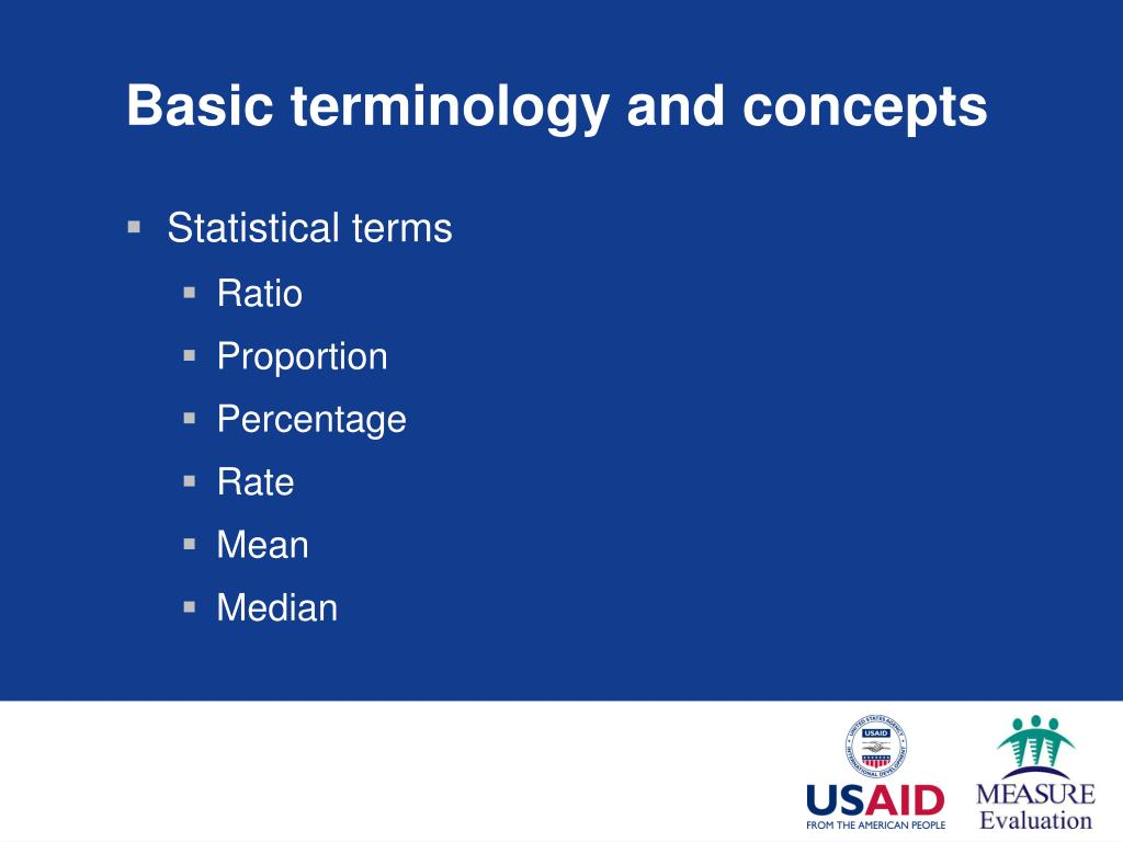 Basic terminology and concepts